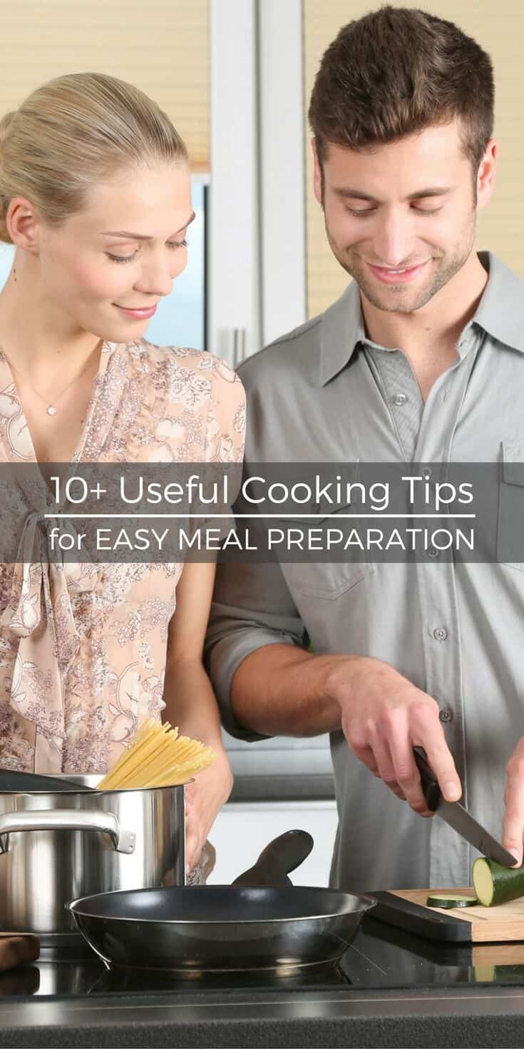 Cooking doesn't have to be intimidating when you learn how to be more efficient in the kitchen. Check out these useful cooking tips for easy meal prep! | SoSimpleIdeas.com
