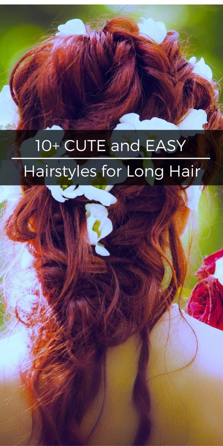 Tired of the same old wash and go hair? Change up your look with these cute and easy hairstyles for long hair that anyone can do. | SoSimpleIdeas.com
