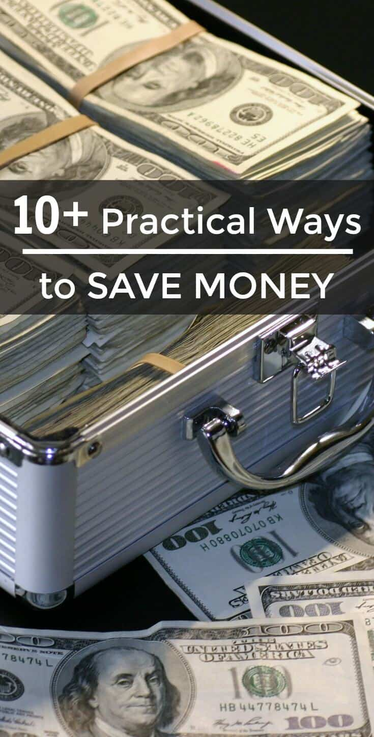 Having trouble making ends meet? Wish you could put money away for an emergency fund? Learn these practical ways to save money for your future needs! | SoSimpleIdeas.com