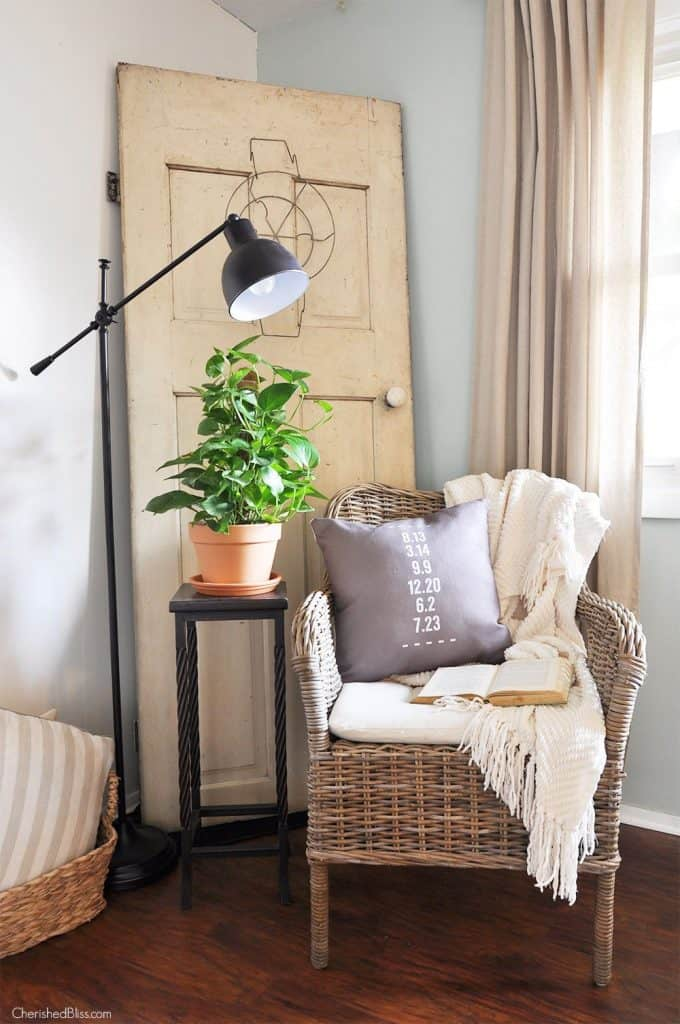 Using and Old Door for Farmhouse Decor