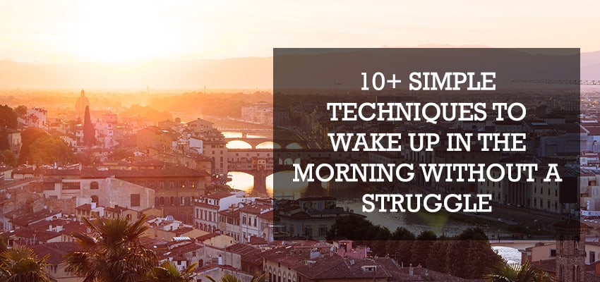 10 techniques to wake up in the morning without a struggle
