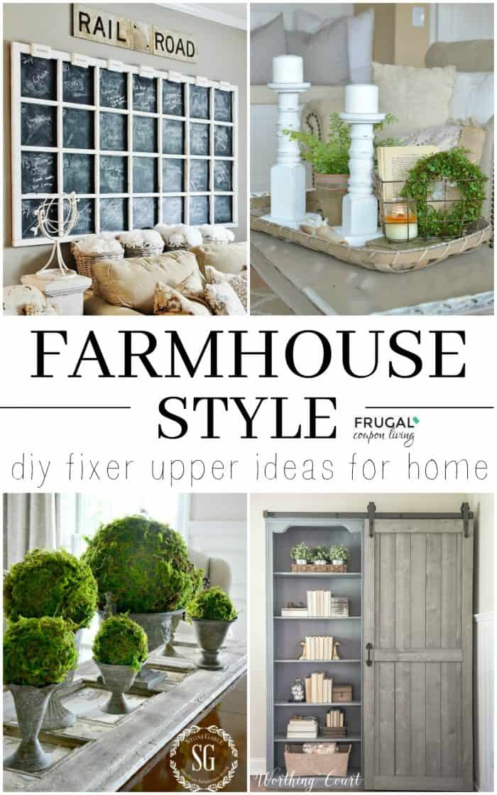 DIY Fixer Upper Farmhouse Decor Ideas