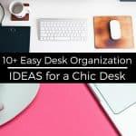 easy diy desk organization ideas pinterest image