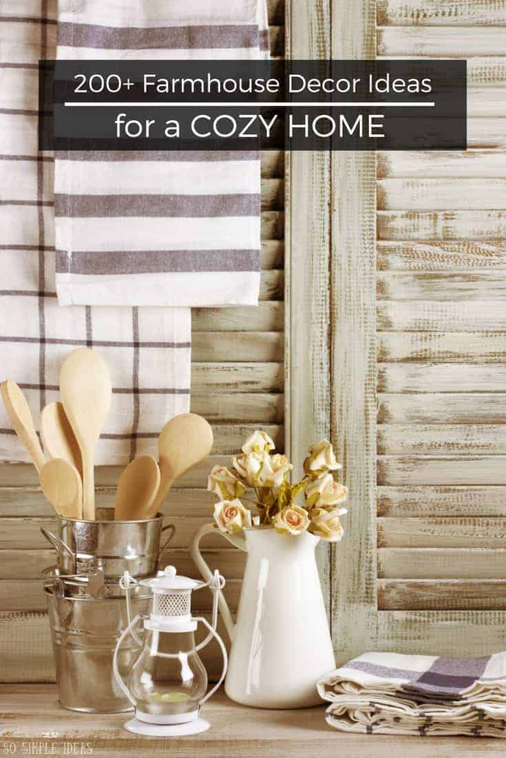 Cozy farmhouse decor ideas for a country style home