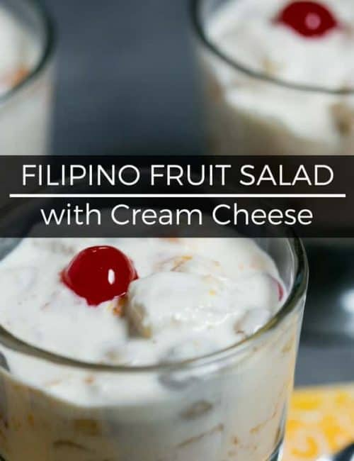 Filipino Fruit Salad with Cream Cheese