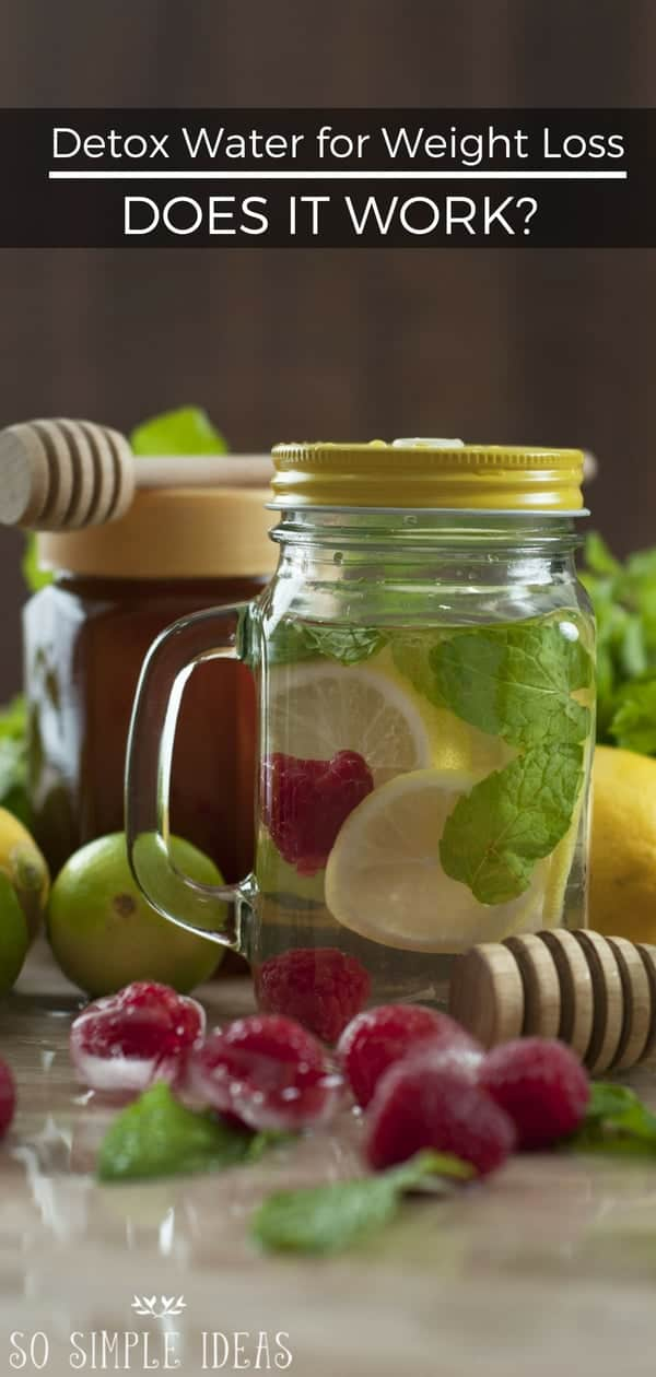 Detox water for weight loss recipes are all over the Internet. But do they work … at least any better than just drinking regular water? #detox #weightloss | sosimpleideas.com