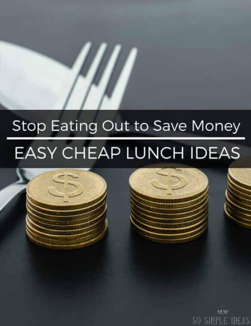 Easy Cheap Lunch Ideas: Stop eating out to save money