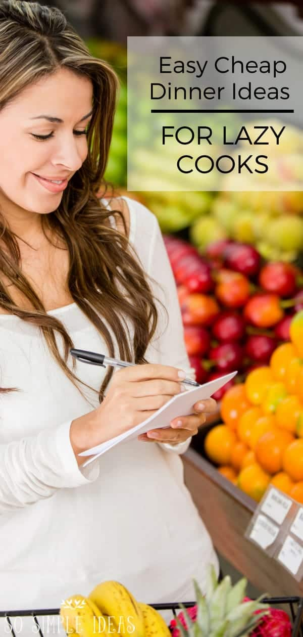 Shocked by how much money you or your family spend eating out? Save money with these easy cheap dinner ideas. #savemoney #easyrecipes #dinner | sosimpleideas.com