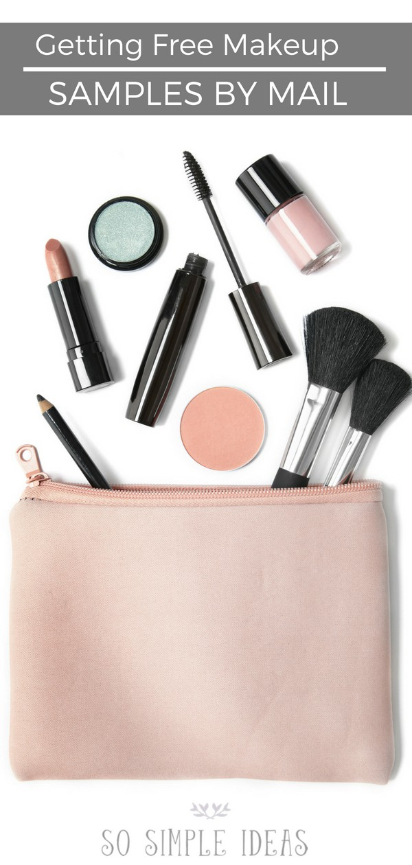 Wondering how to get free makeup samples by mail? It's actually not that hard. You just have to be willing to give up something in exchange that you may not like. #makeup #beauty #freesample #freesamples #cosmetics | sosimpleideas.com