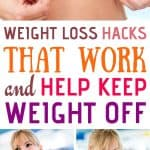 weight loss hacks that work pinterest image