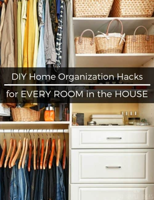 Could your home use some declutterin' lovin'? Try these DIY home organization hacks. These tips might not fix extreme cases of hoarding, but for basic organizational needs, these ideas from around the web are perfect for small spaces.