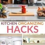 kitchen organizing hacks pinterest image