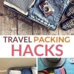 travel packing hacks pinterest image