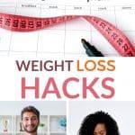 weight loss hacks pinterest image