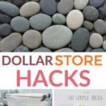 dollar store hacks pinterest image