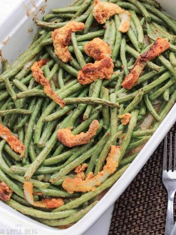 low-carb gluten-free green bean casserole