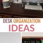 desk organization pinterest image