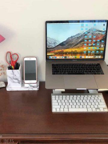 desk organization ideas featured image