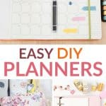 easy diy planners pinterest image