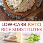 low carb keto rice substitutes pinterest image