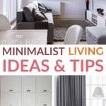 minimalist living ideas and tips pinterest image