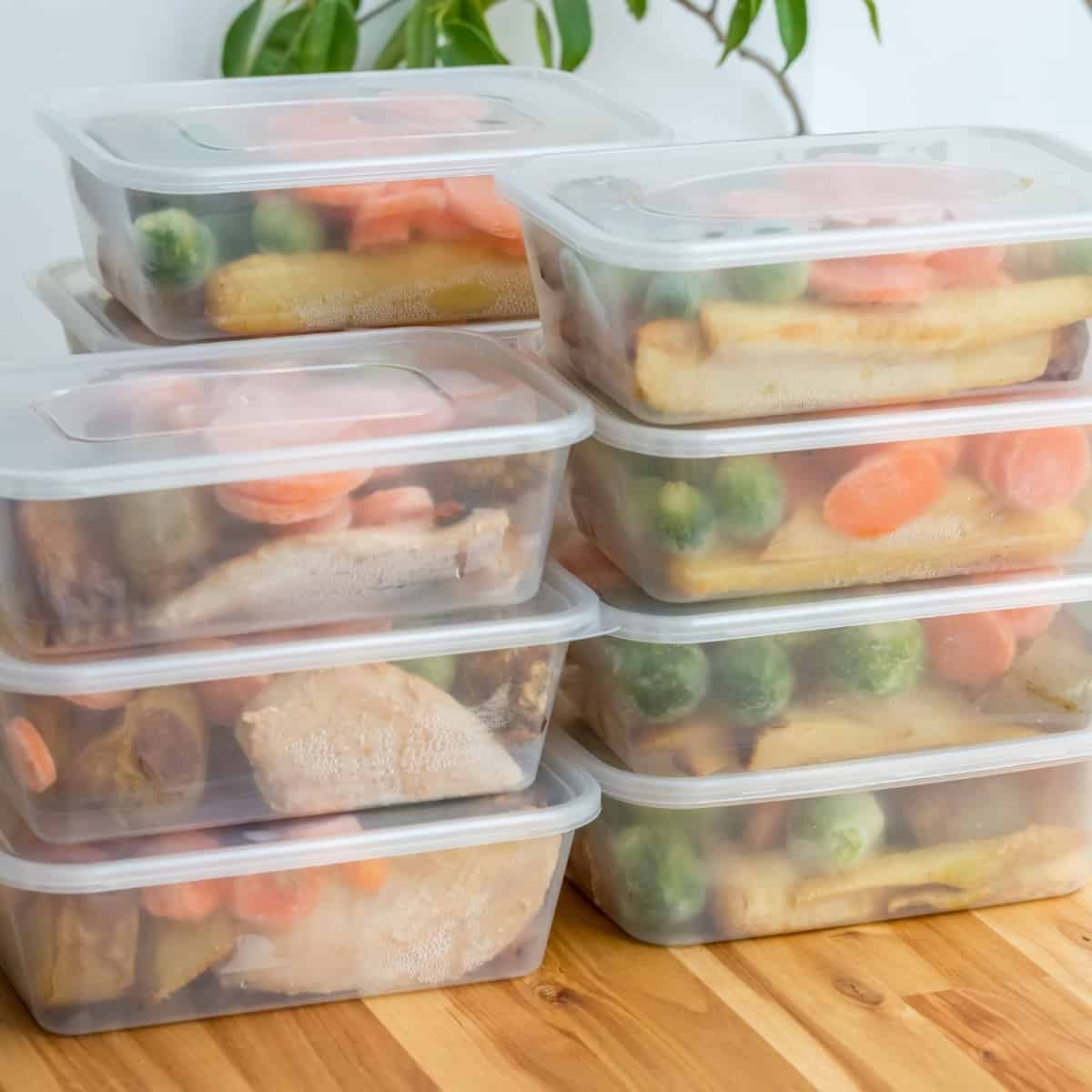 bulk cooking in storage containers