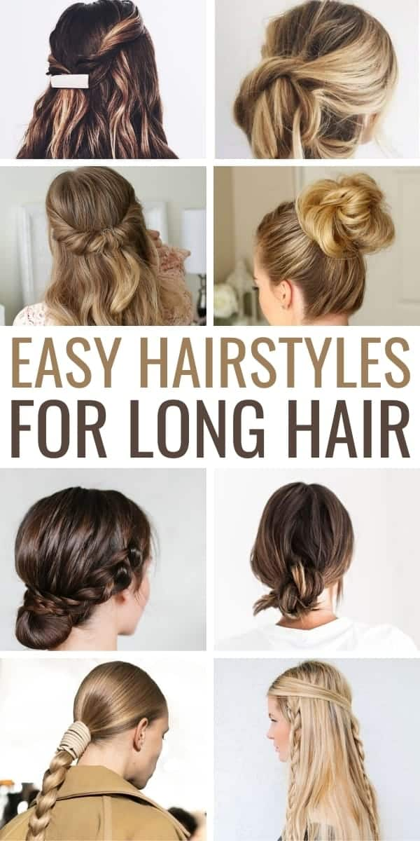 easy hairstyles for long hair pinterest image