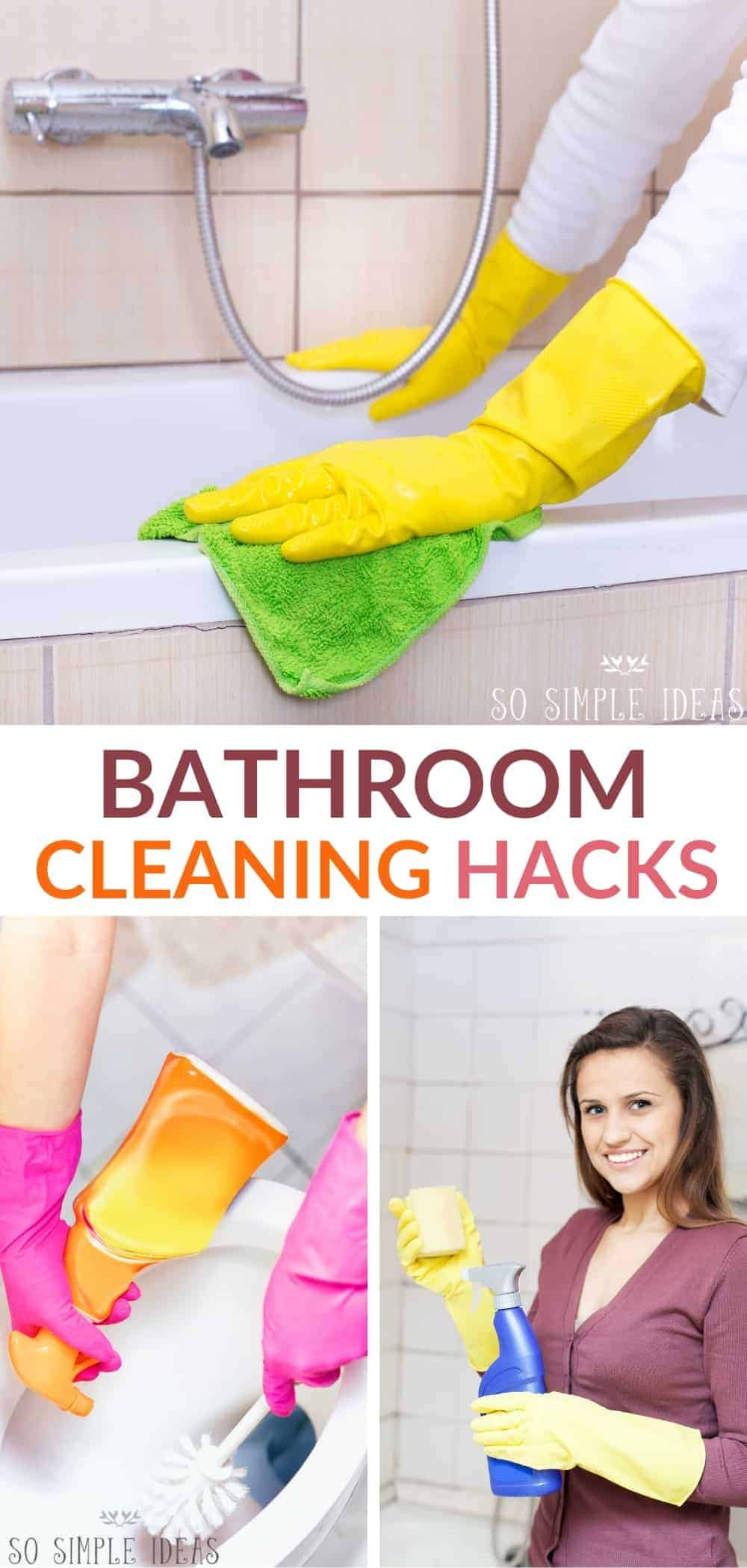 bathroom cleaning hacks pinterest image