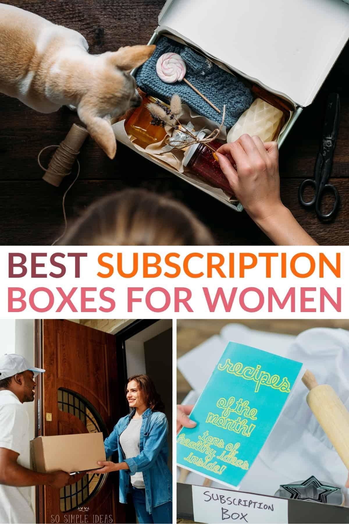best subscription boxes for women pinterest image