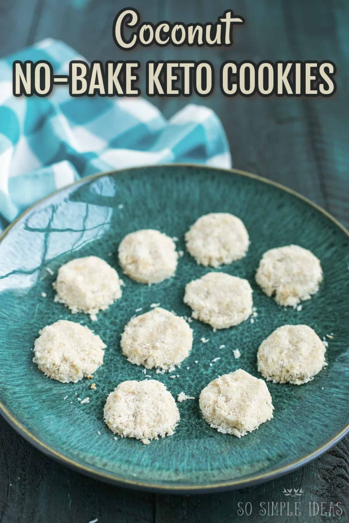 coconut keto no bake cookies recipe cover image