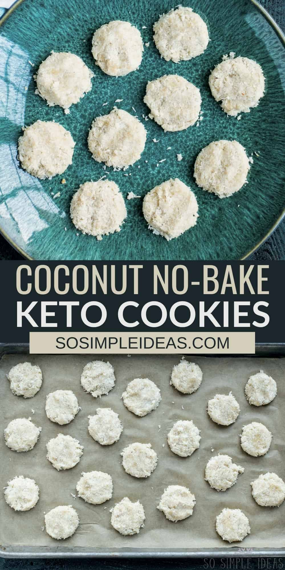 coconut no bake keto cookies pinterest image