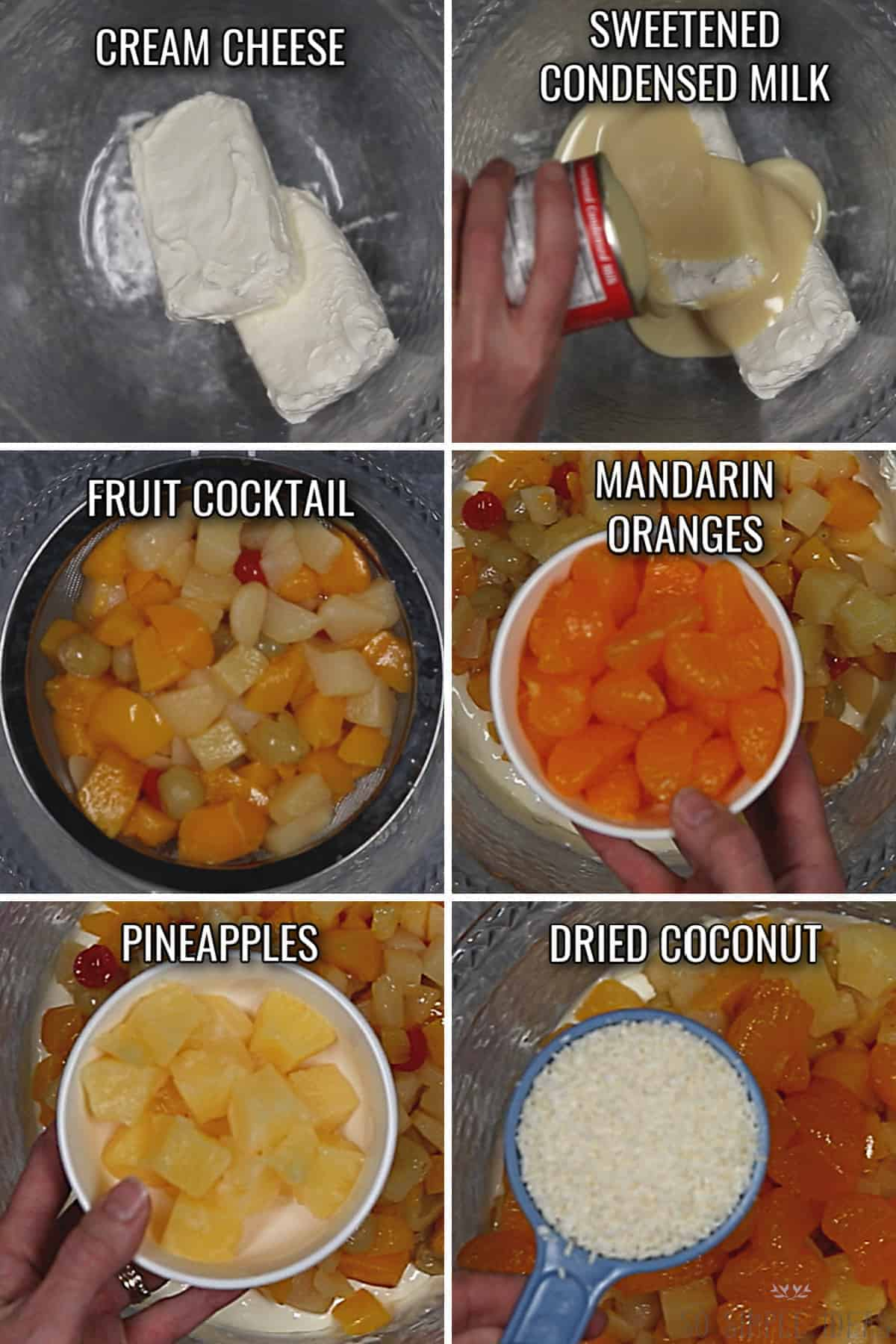 ingredients for the filipino fruit salad recipe