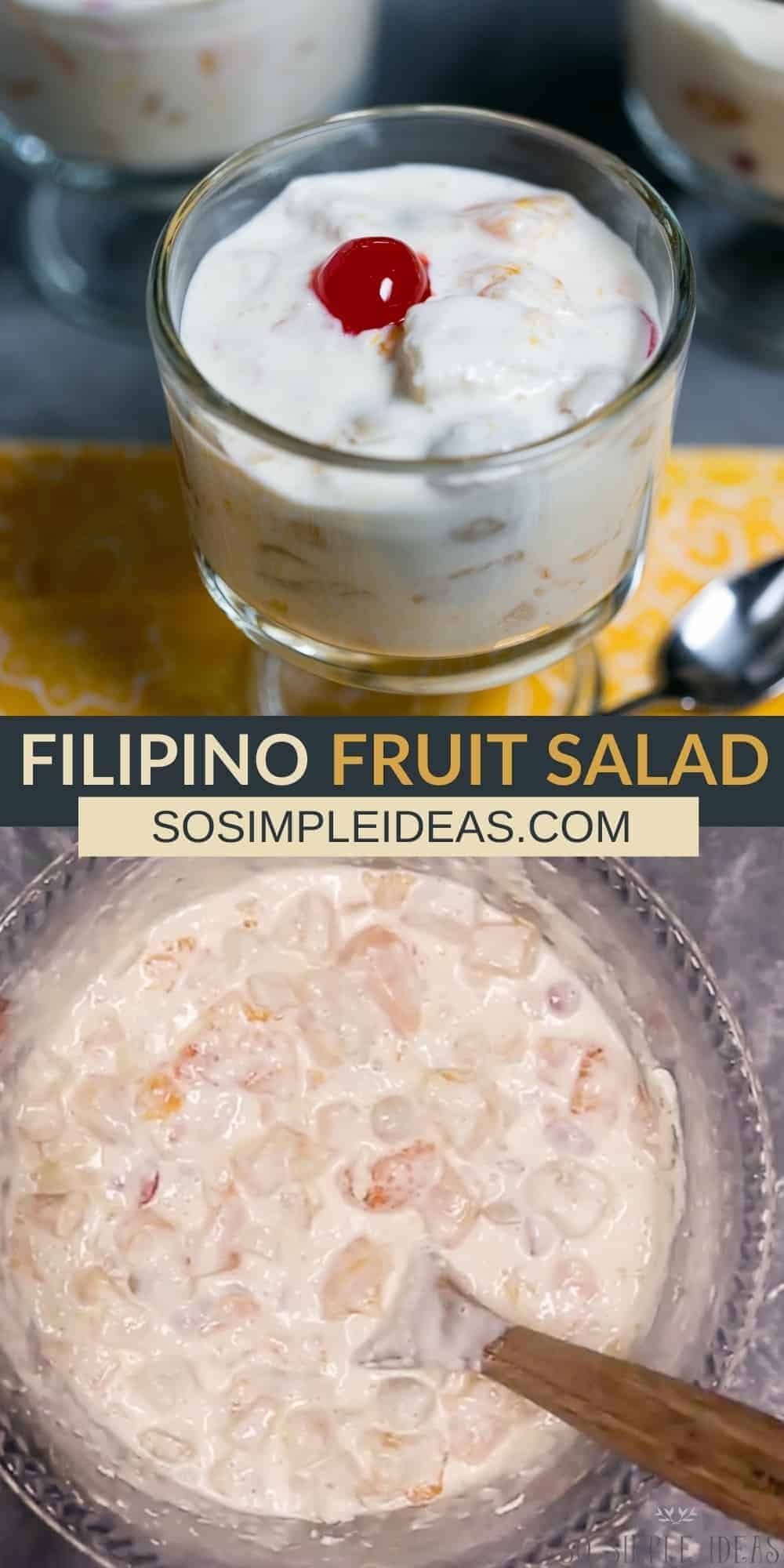 filipino fruit salad pinterest image