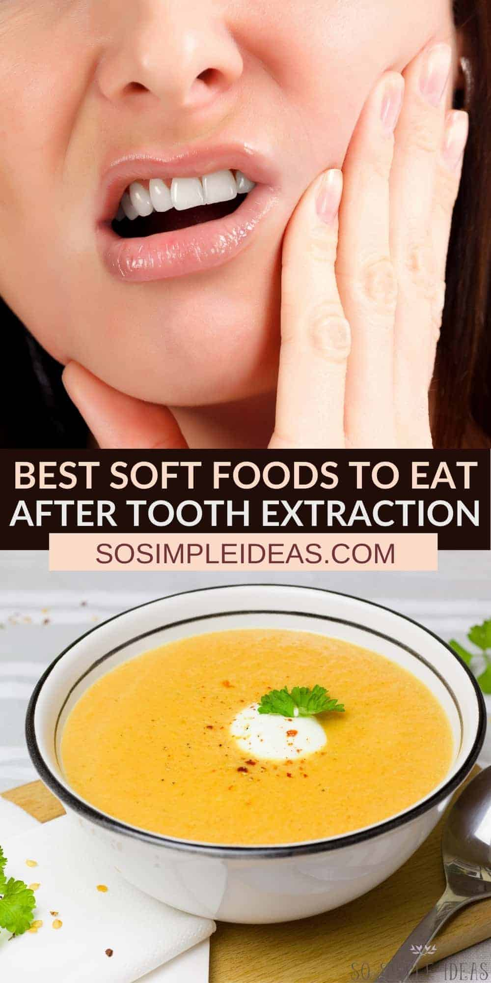 soft foods to eat after tooth extraction pinterest image