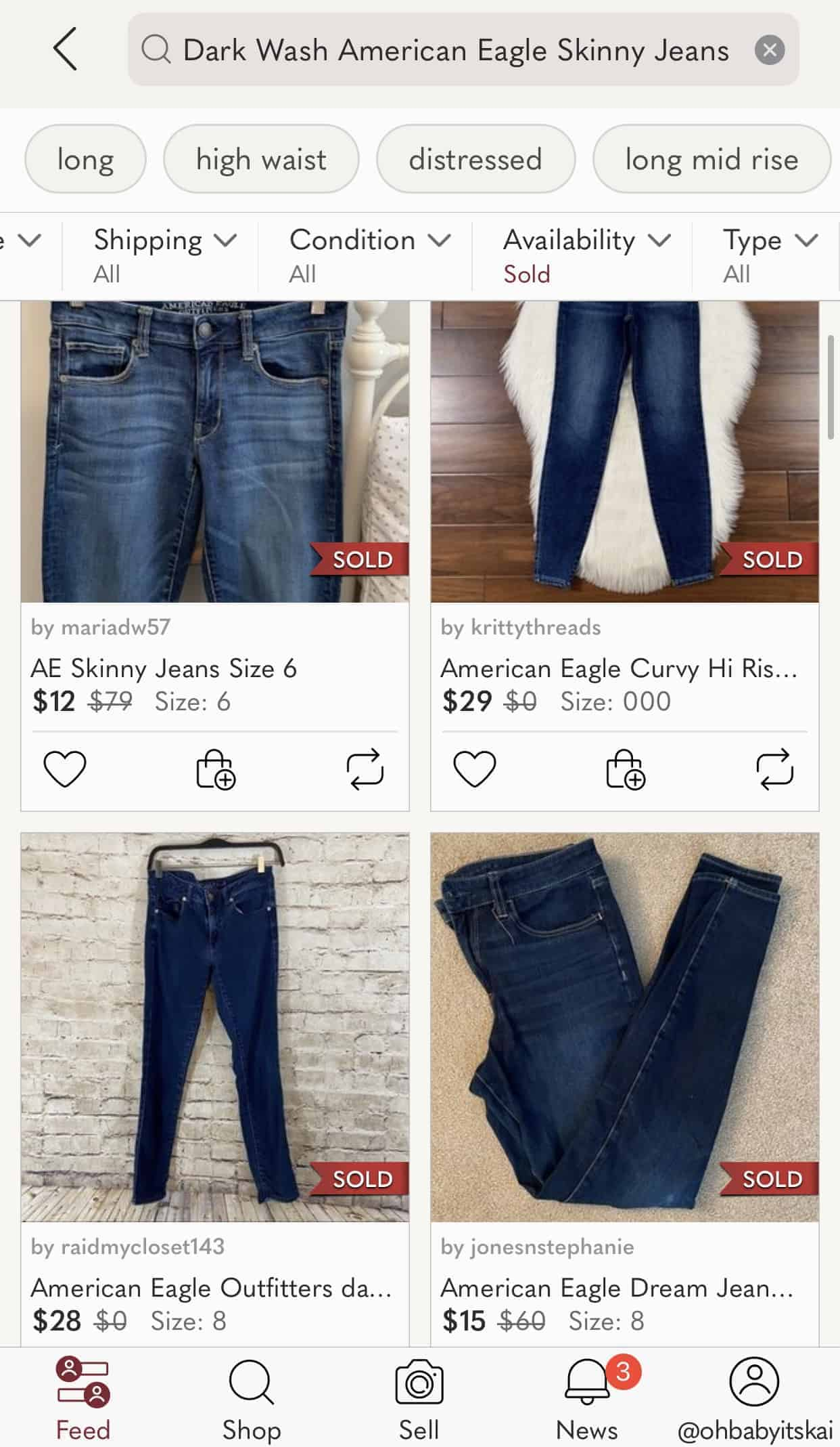 how to find comps on poshmark