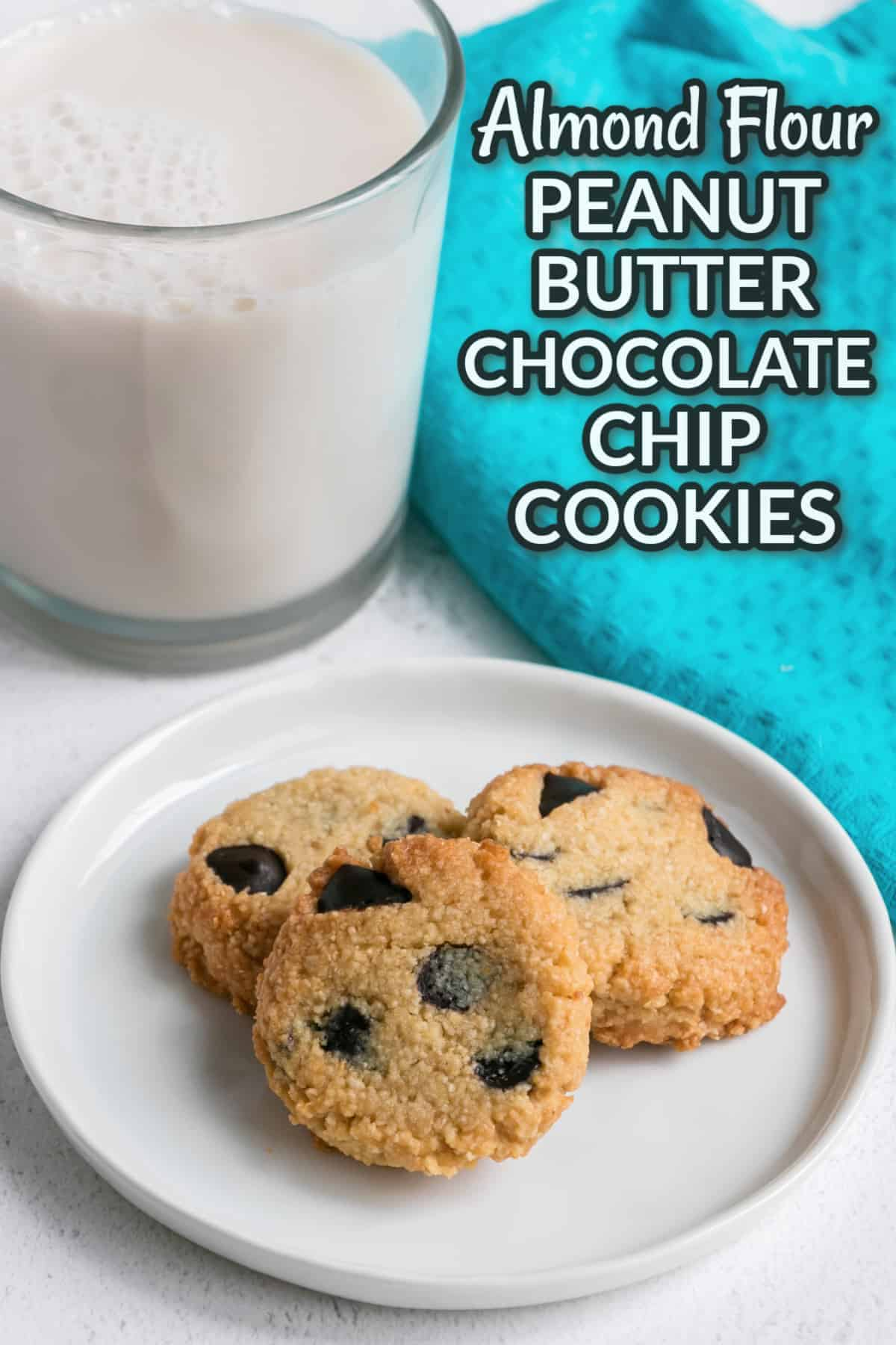 almond flour peanut butter chocolate chip cookies cover image