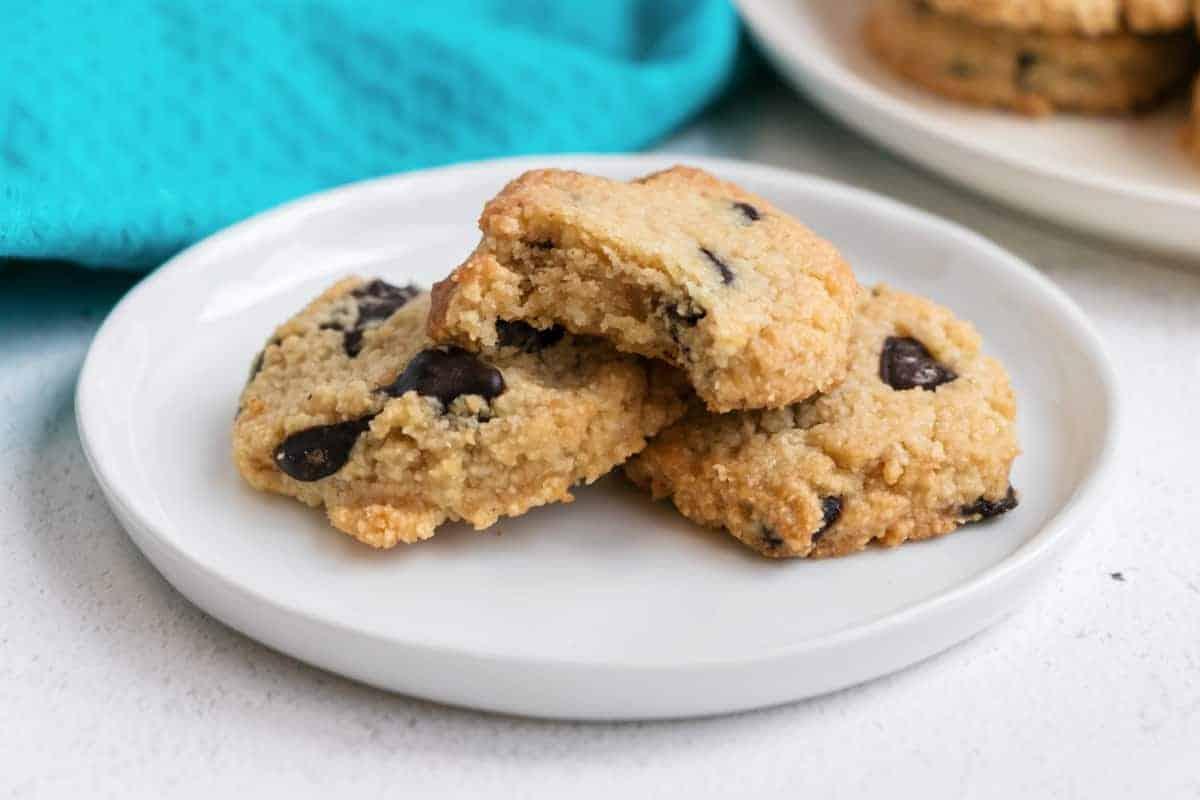 almond flour chocolate chip cookies bite shot
