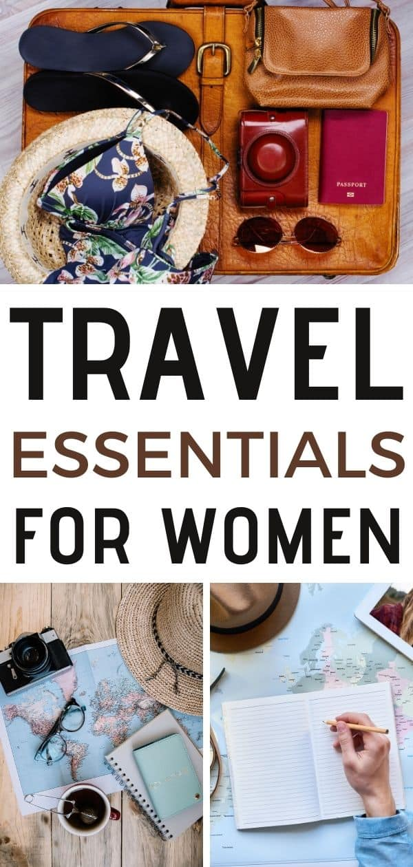 travel essentials for women pin
