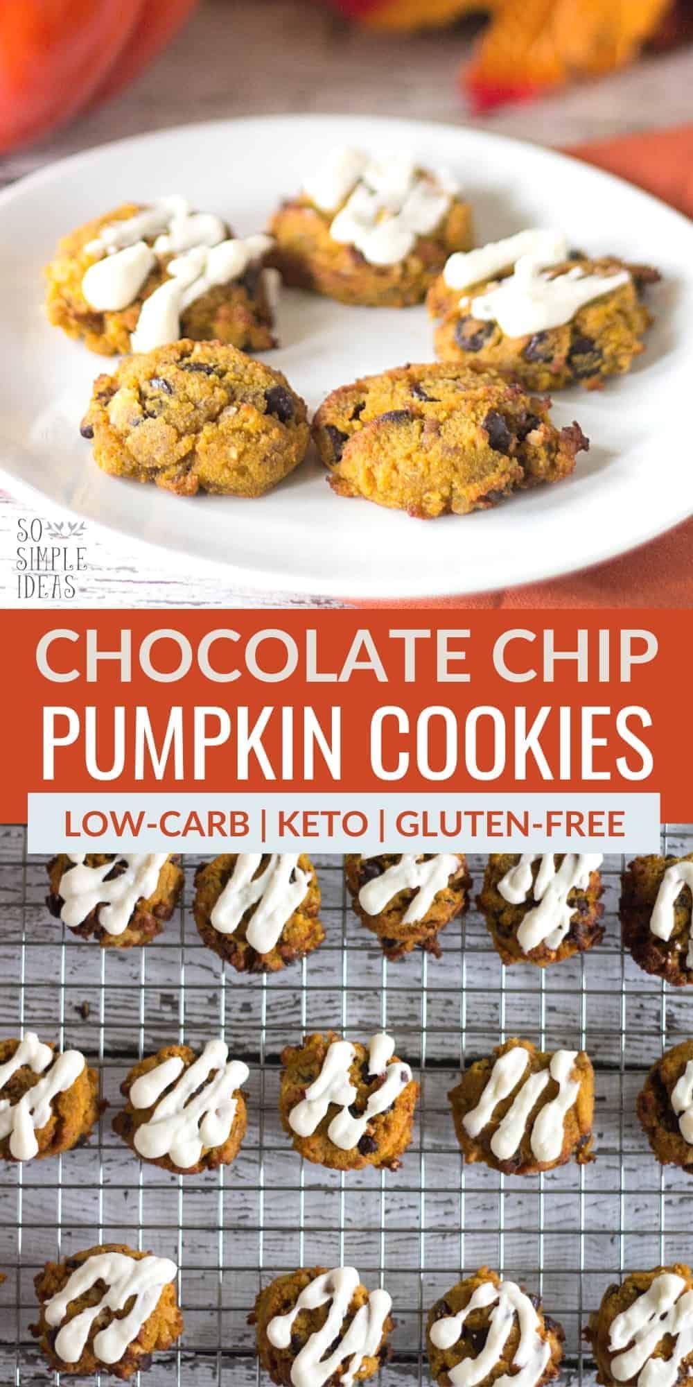 chocolate chip pumpkin cookies pinterest image
