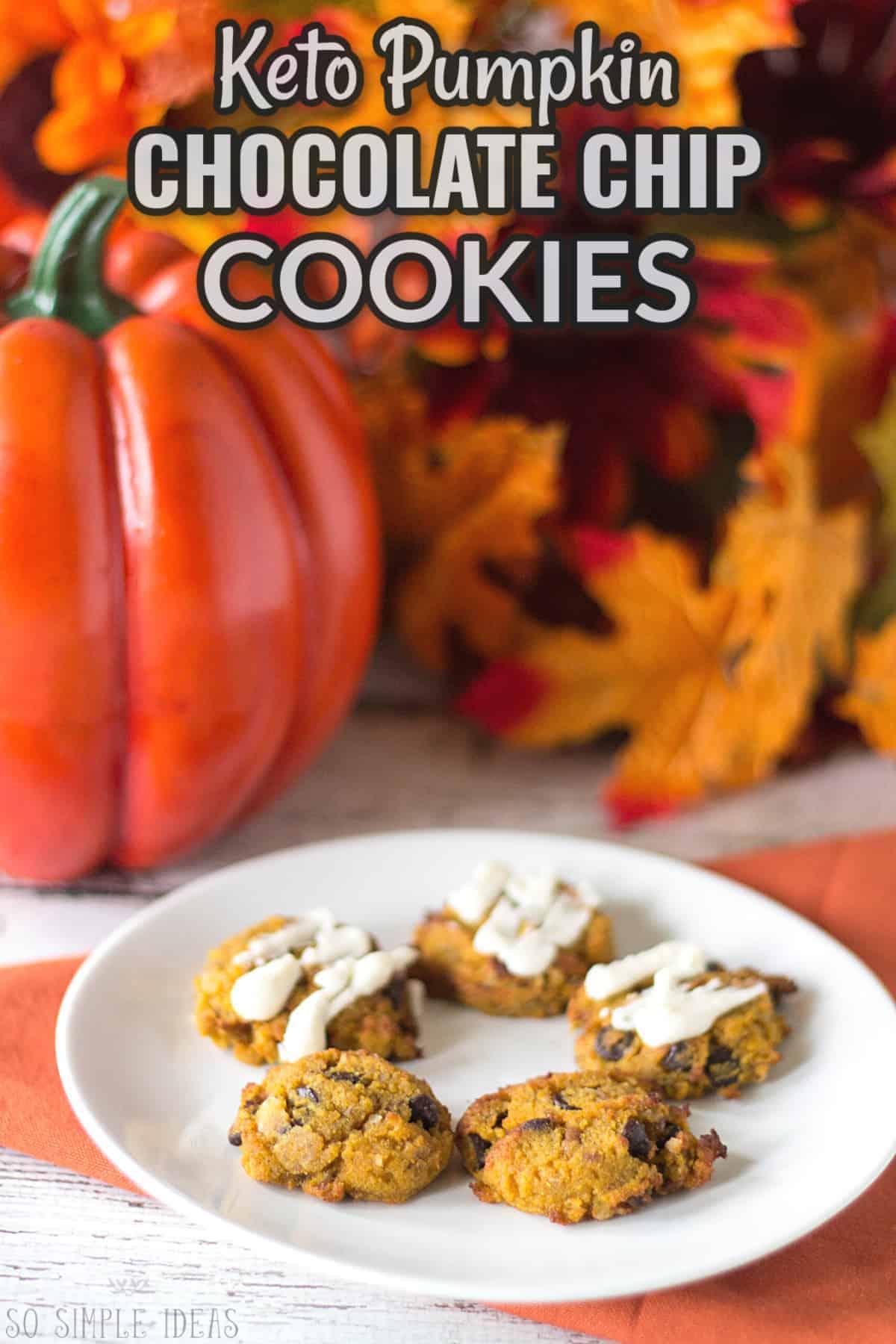 keto pumpkin chocolate chip cookies cover image